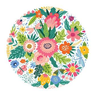 Piękny cykl wykonany z kwiatów.