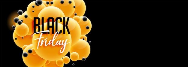 Piękny czarny piątek projekt transparentu w stylu 3d