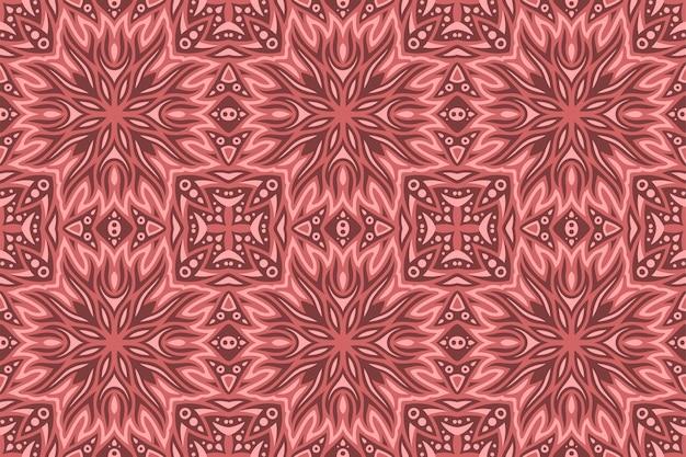 Piękny czerwony streszczenie wzór z stylizowane płomienie ognia