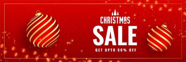 Piękny czerwony transparent świątecznej sprzedaży