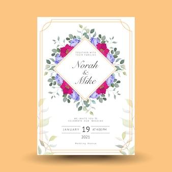 Piękny dekoracyjny kartkę z życzeniami lub zaproszenie z kwiatowym wzorem