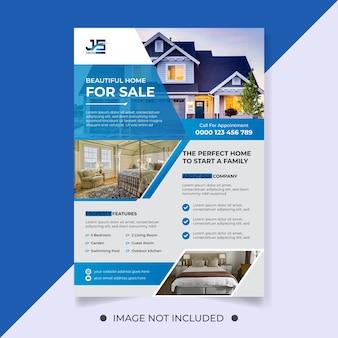 Piękny dom na sprzedaż szablon ulotki nieruchomości