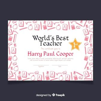 Piękny dyplom nauczyciela na świecie