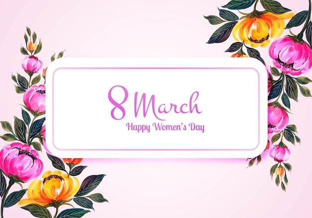 Piękny dzień kobiet karty kwiat tło