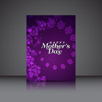 Piękny dzień matki elegancki projekt ulotki