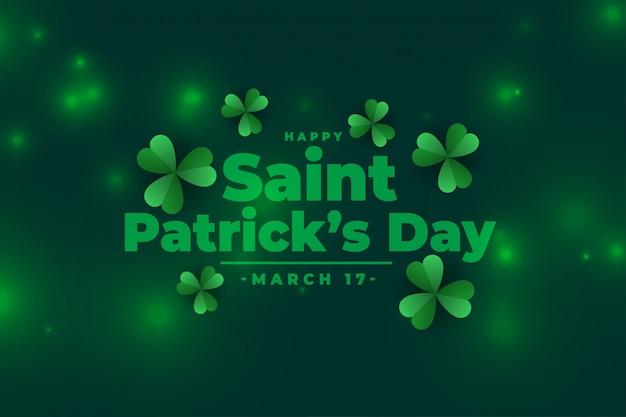 Piękny dzień świętego patryka zielony sztandar