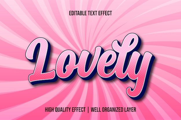 Piękny edytowalny styl czcionki z efektem tekstowym