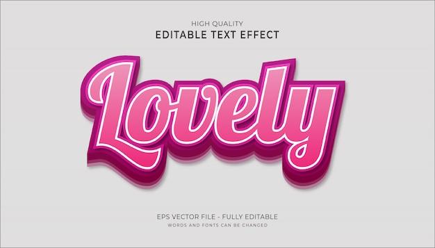 Piękny efekt tekstowy, edytowalny efekt stylu kreskówkowego tekstu.