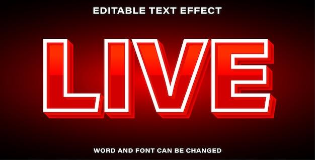 Piękny efekt tekstowy na żywo