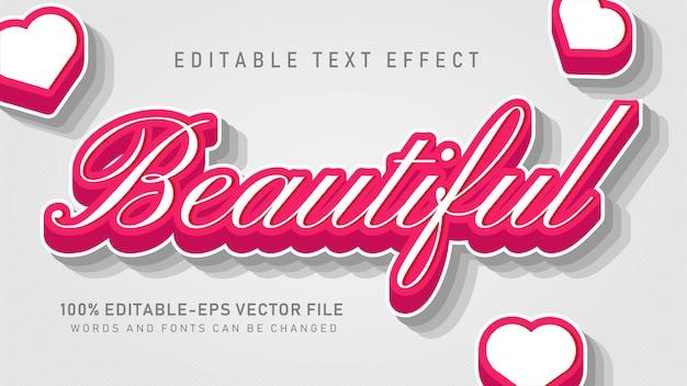 Piękny efekt tekstowy