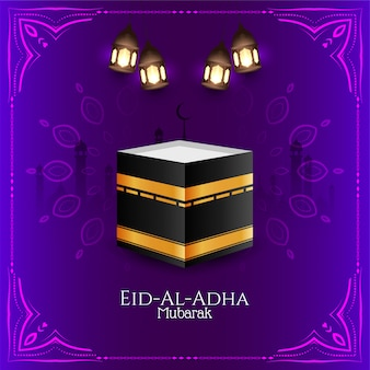 Piękny eid al-adha mubarak tło wektor
