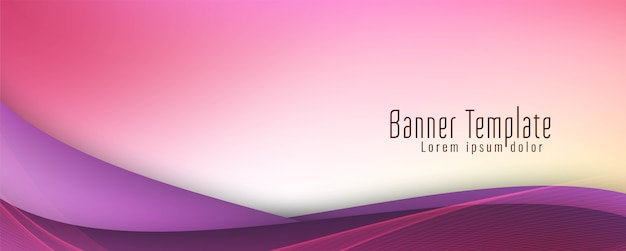 Piękny elegancki falisty szablon projektu banera