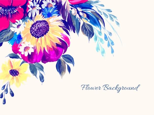 Piękny elegancki kwiat tło