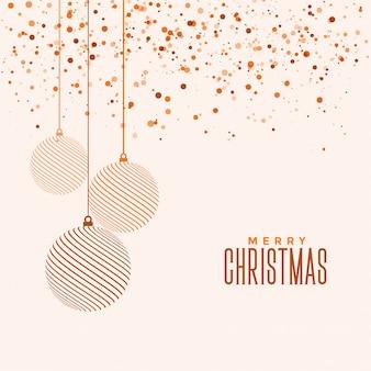 Piękny elegancki wesołych świąt bożego narodzenia kartkę z życzeniami