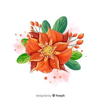 Piękny hawajski kwiat i liście