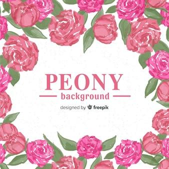 Piękny i elegancki peonia kwiatu tło