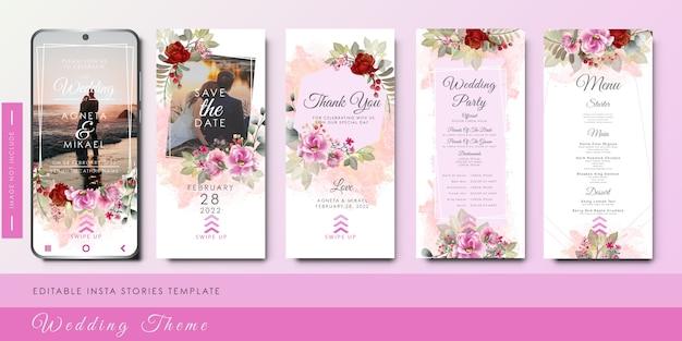 Piękny i elegancki szablon zaproszenia ślubne dla mediów społecznościowych