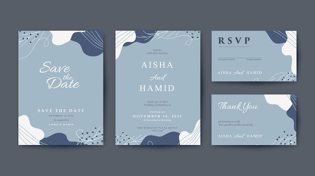 Piękny i elegancki szablon zaproszenia ślubne