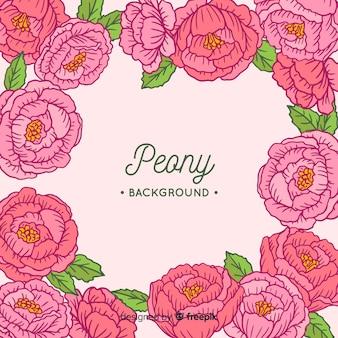 Piękny i kreatywnie peonia kwiatu tło