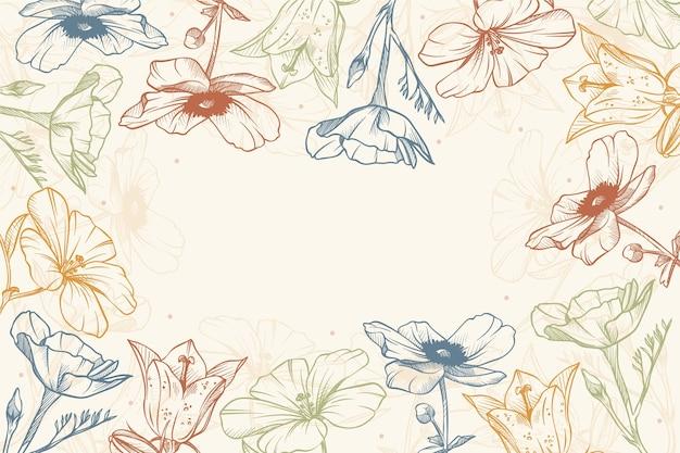 Piękny i kreatywny projekt tapety z motywem kwiatowym