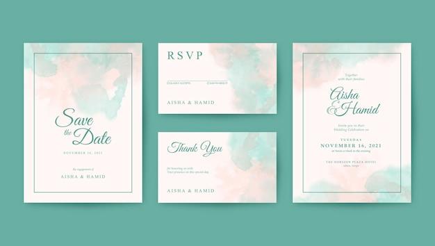 Piękny i romantyczny szablon zaproszenia ślubne