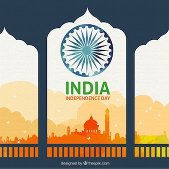 Piękny indyjski dnia niepodległości tło