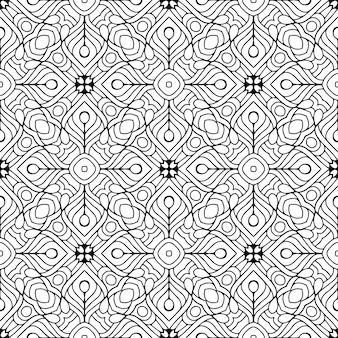 Piękny indyjski tradycyjny bezszwowy deseniowy czarny i biały