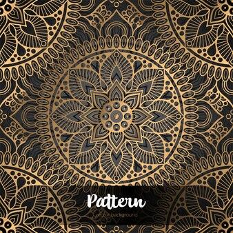 Piękny islamski kwiatowy wzór.