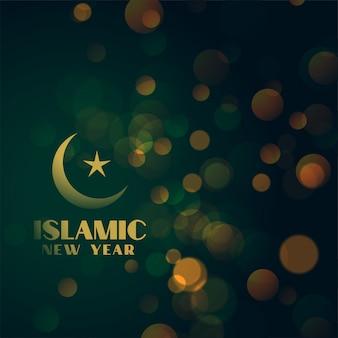 Piękny islamski nowego roku bokeh tło