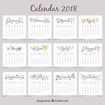 Piękny kalendarz 2018