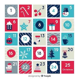 Piękny kalendarz adwentowy