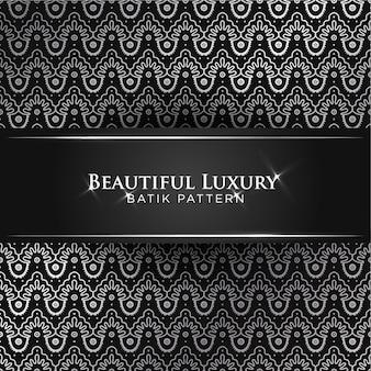 Piękny klasyczny luksusowy batik banten szwu