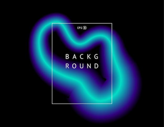 Piękny kolorowy efekt świetlny wektora neon blask i błysk. tło z latającymi projektów elementami z ramą
