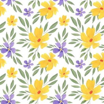 Piękny kolorowy kwiatowy wzór akwarela