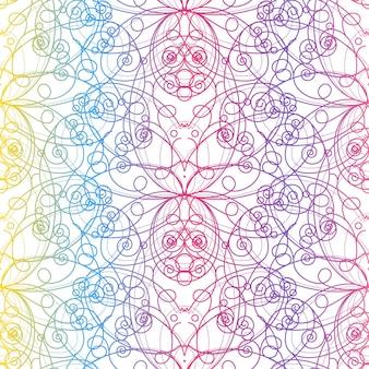 Piękny kolorowy wzór bez szwu