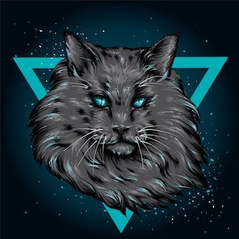 Piękny kot. ilustracja.