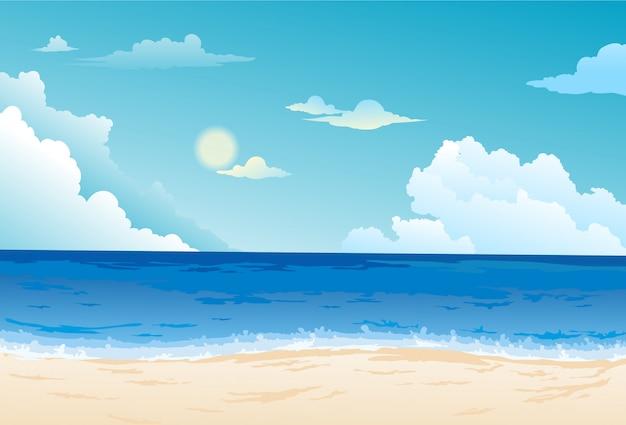 Piękny krajobraz morski tło