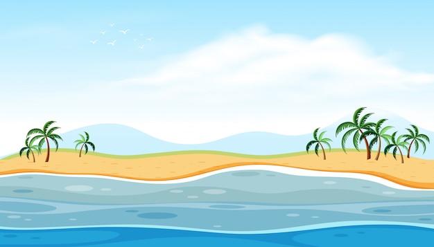 Piękny krajobraz plaży