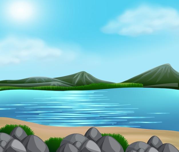 Piękny krajobraz przyrody