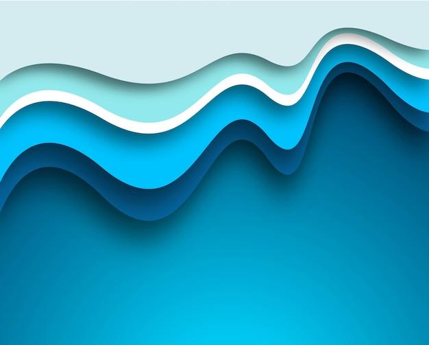 Piękny kreatywnie błękitny falowy tło