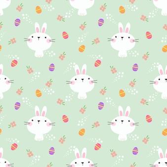 Piękny króliczek i pisanka wzór