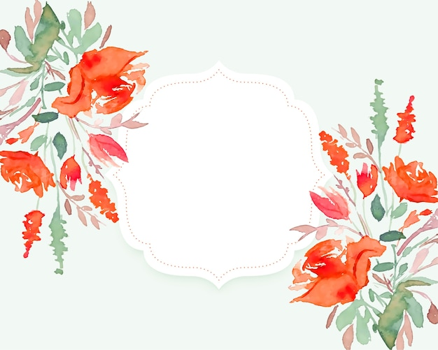Piękny kwiat akwarela tło