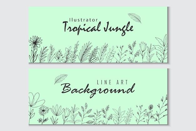 Piękny kwiatowy baner graficzny desain