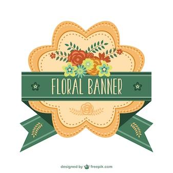 Piękny kwiatowy banner