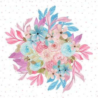 Piękny kwiatowy bukiet tło