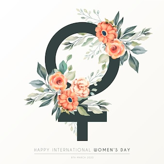 Piękny kwiatowy dzień kobiet w tle