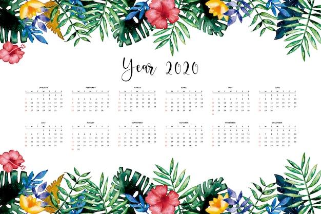 Piękny kwiatowy kalendarz