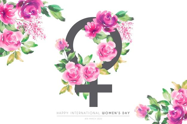 Piękny kwiatowy kartkę z życzeniami na dzień kobiet