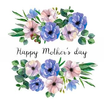 Piękny kwiatowy napis na dzień matki