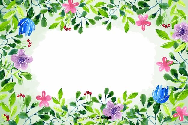 Piękny kwiatowy rama tło